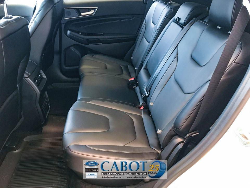 2019 Ford Edge Back Seat Interior at Cabot Ford Lincoln in St. John's, Newfoundland and Labrador