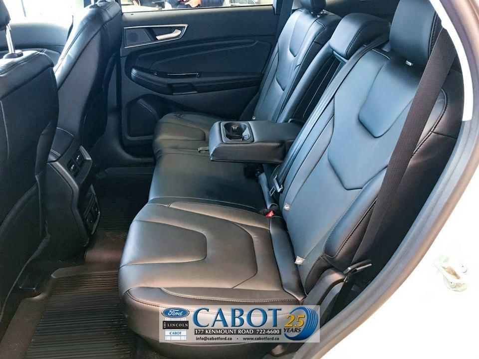 2019 Ford Edge Back Seat Interior Middle Seat at Cabot Ford Lincoln in St. John's, NL