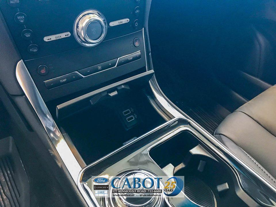 2019 Ford Edge Interior Front Console with USB charging ports at Cabot Ford Lincoln in St. John's, Newfoundland and Labrador
