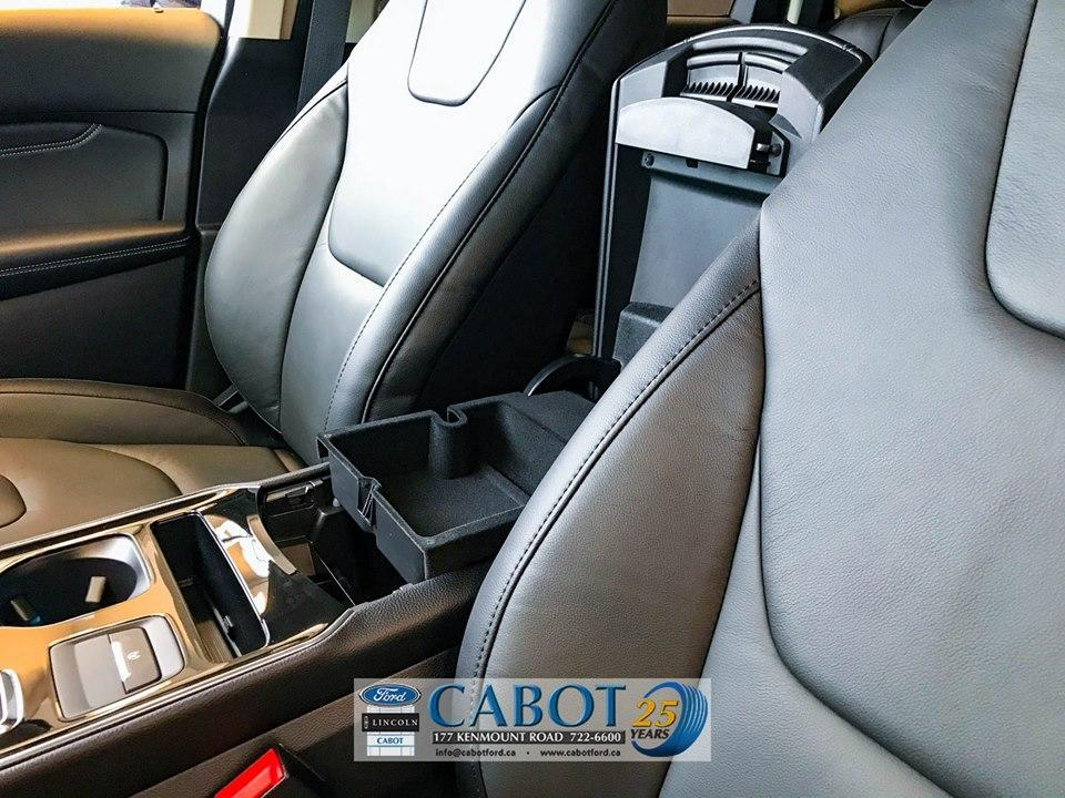Never-ending storage options in the 2019 Ford Edge at Cabot Ford Lincoln in St. John's, NL