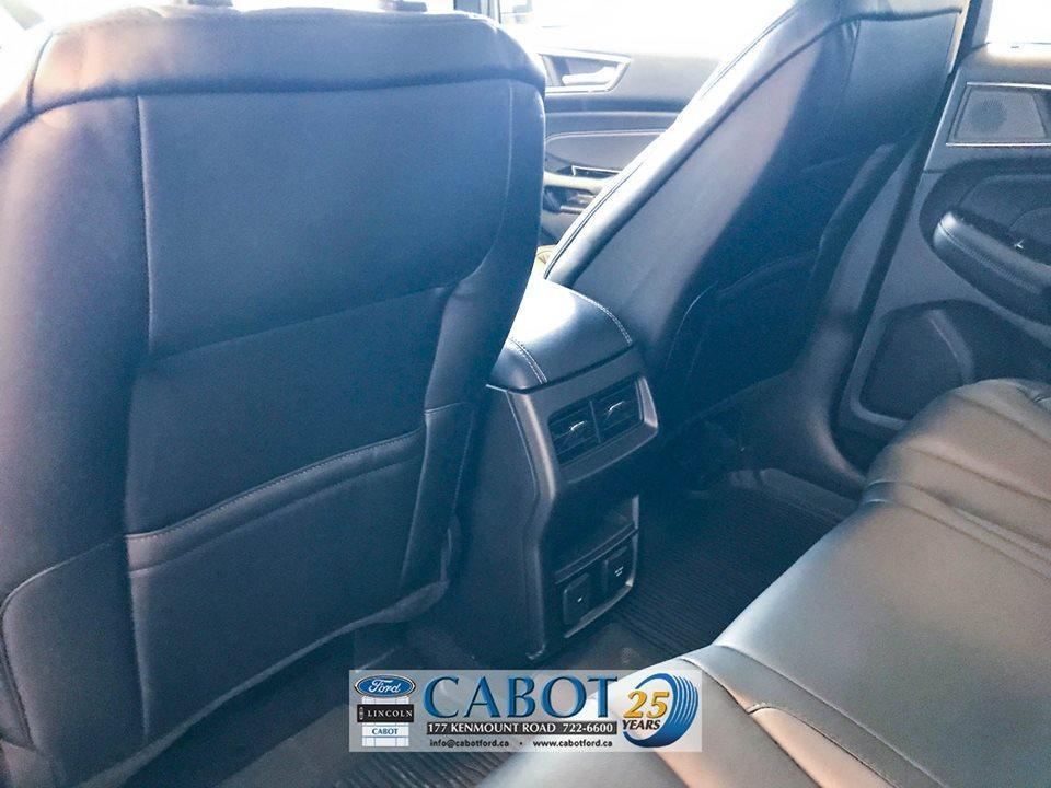 2019 Ford Edge Interior Back Seat  Cabot Ford in St. John's Newfoundland