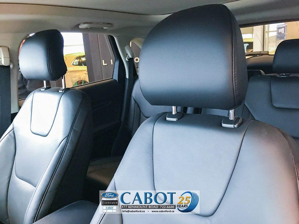 2019 Ford Edge Interior Seat Close Up at Cabot Ford Lincoln in St. John's, Newfoundland and Labrador