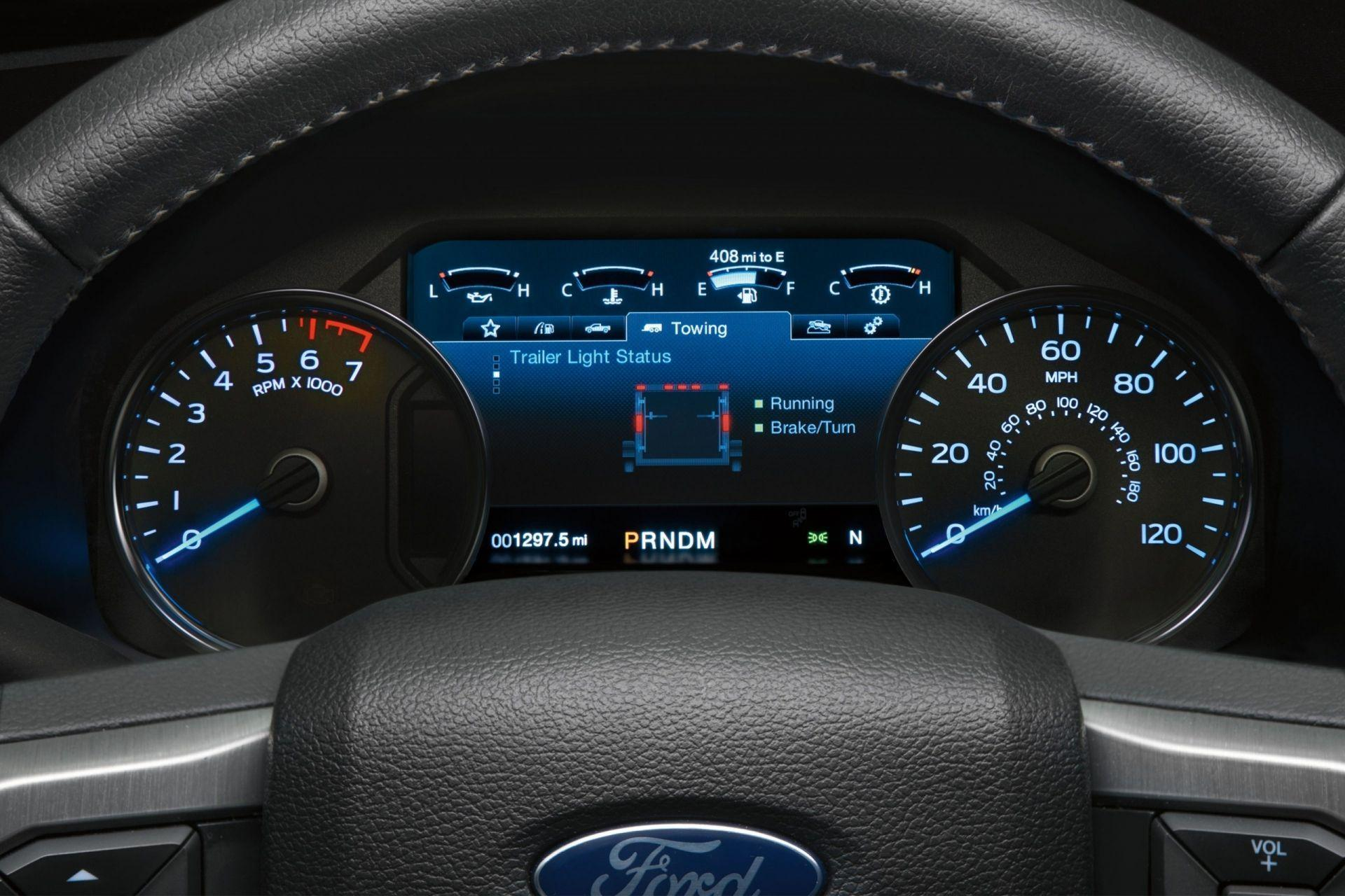 Message and Control Port on the 2019 Ford F-150 XLT SuperCrew in Blue at Cabot Ford Lincoln in St. John's, Newfoundland and Labrador (NL)