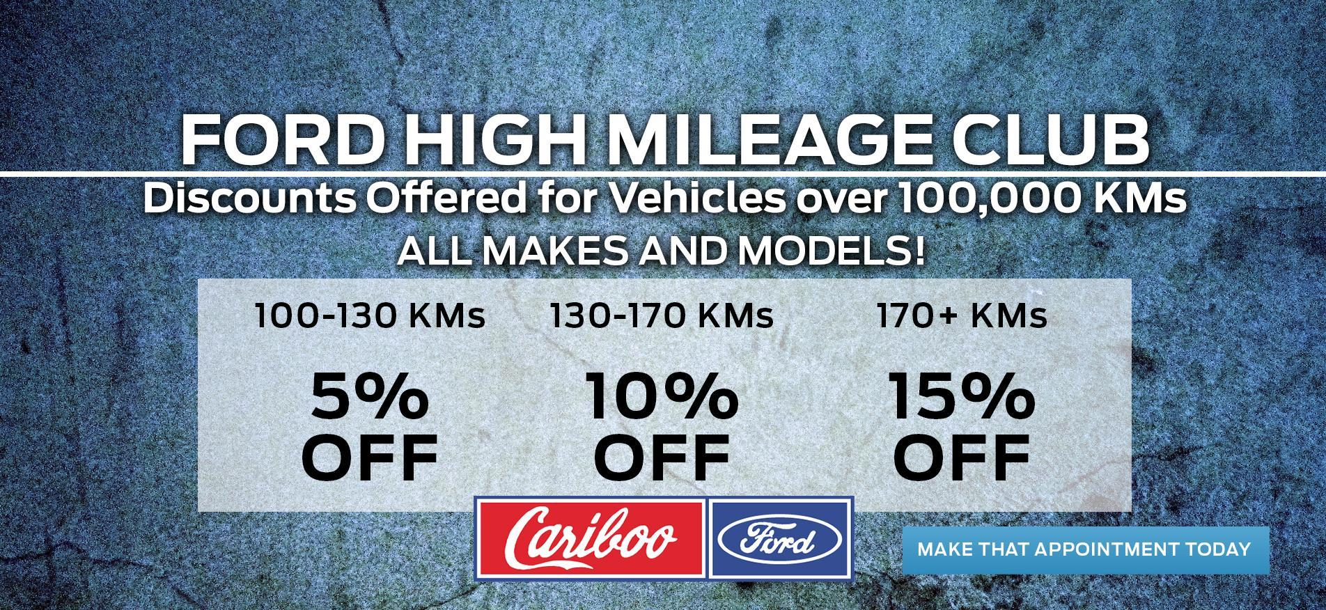 Service and Repairs - High Mileage Club