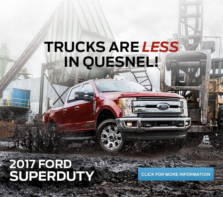 Trucks are less in Quesnel!