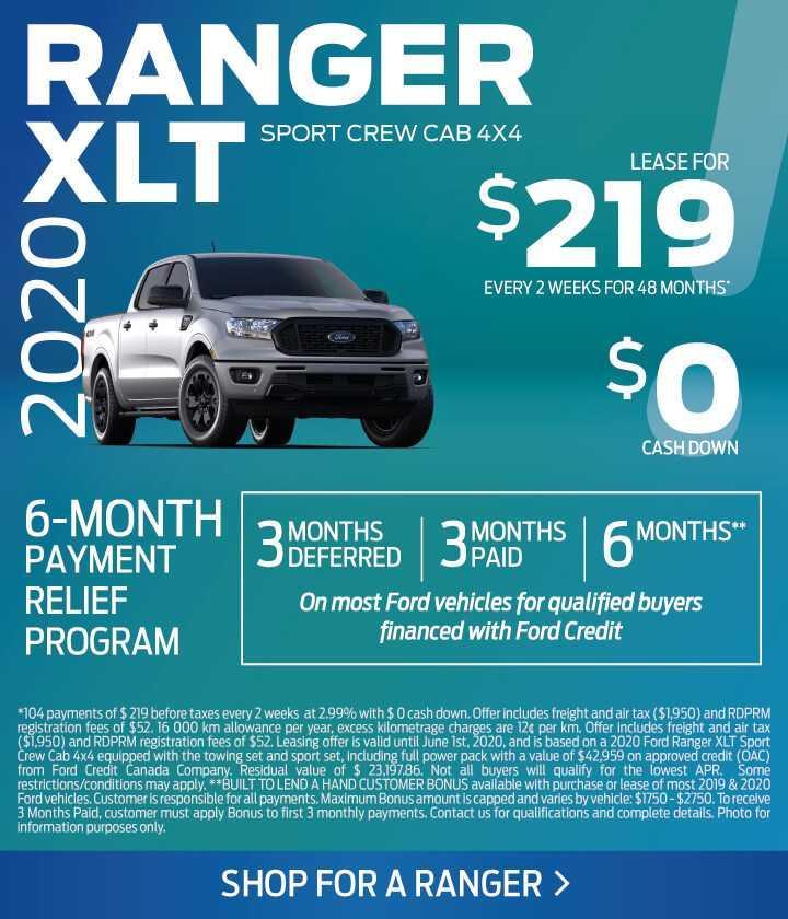 2020 Ranger offer