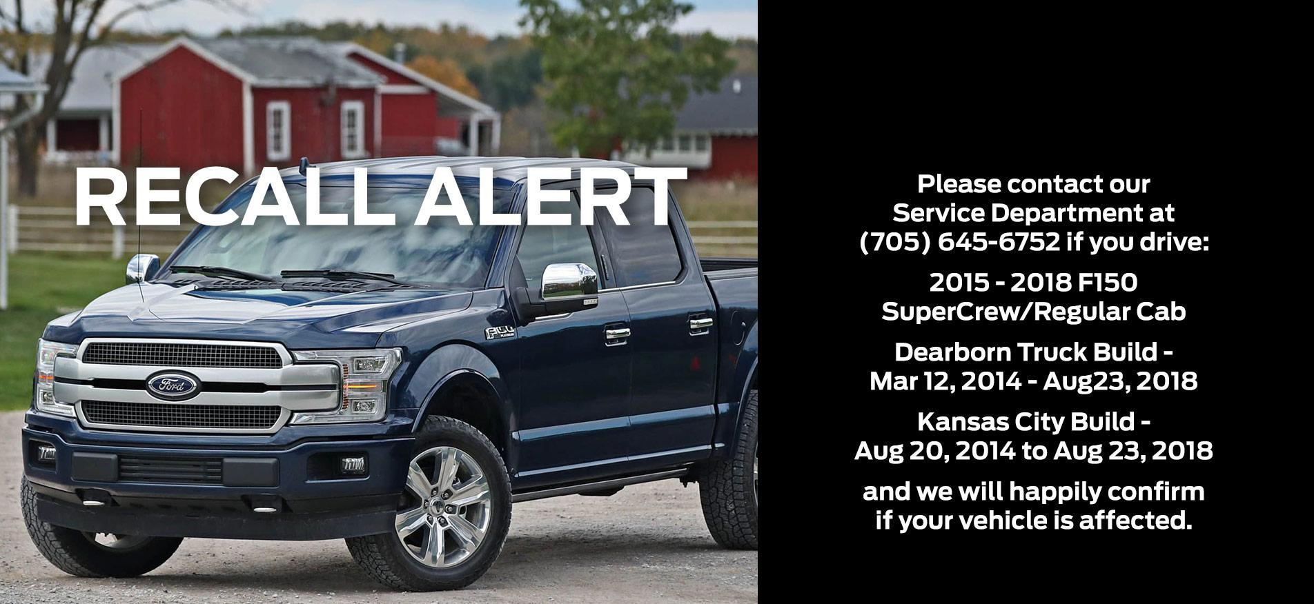 Cavalcade Ford - Recall Alert