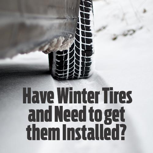 winter tire installation