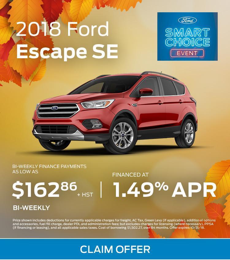 2018 Ford Escape SE red