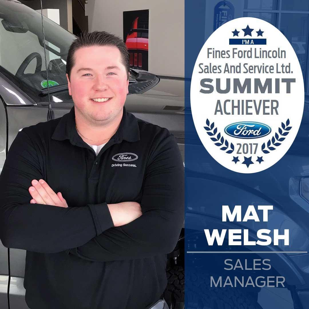 Mat Welsh Summit Award