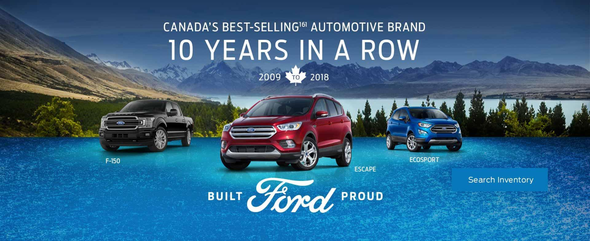 Ford 10 Years in a row