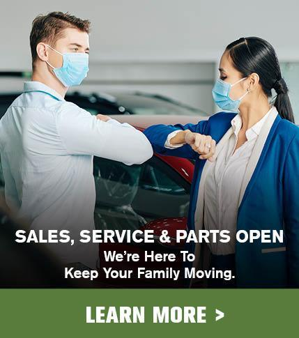 Mossy Auto Group is Open for Sales, Service & Parts