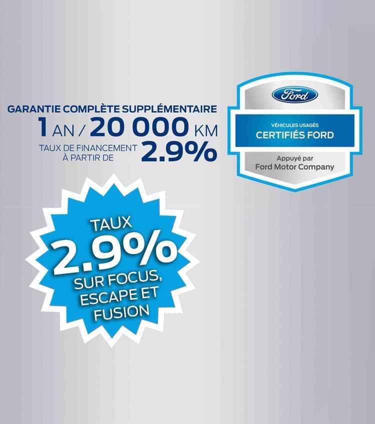 Garantie complete vehicule certifies