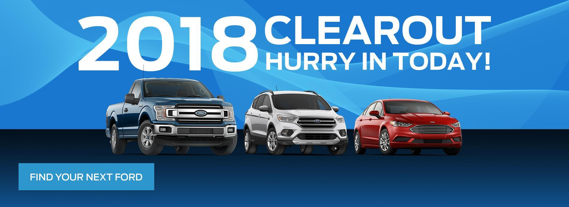 2018 Clearance Vehicles