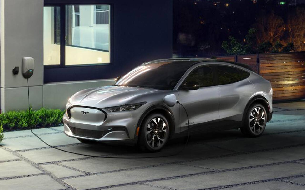 All-New 2021 Ford Mach-E Charging at Home