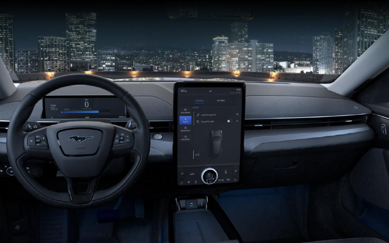 All-New 2021 Mustang Mach-E interior dashboard technology