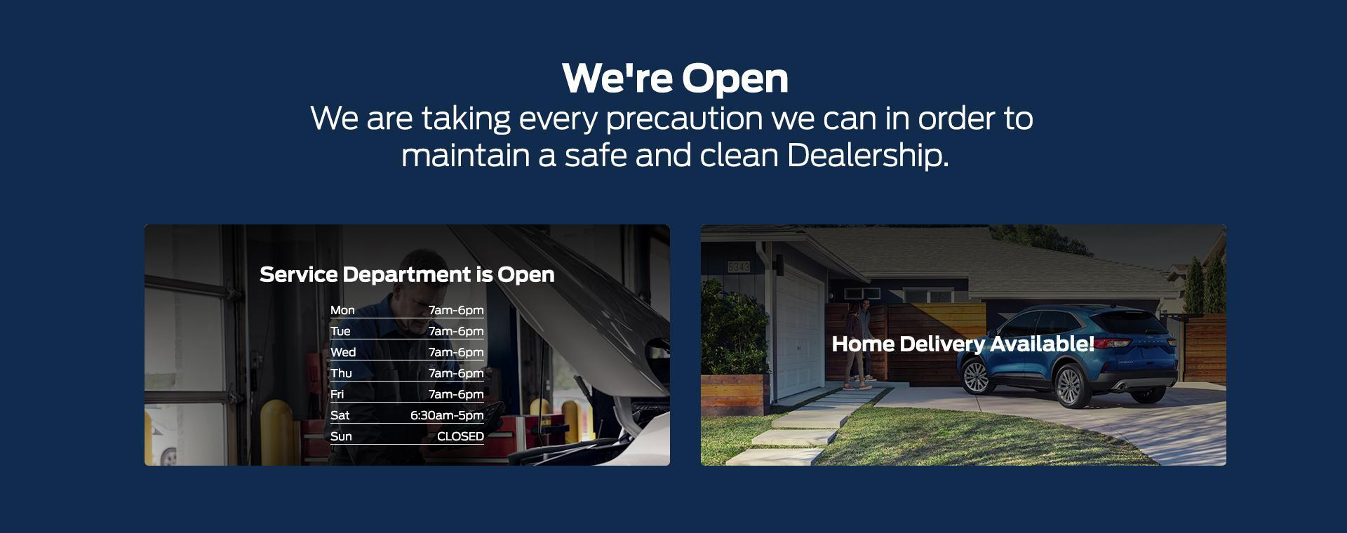 South Bay Ford - Service Department is Open