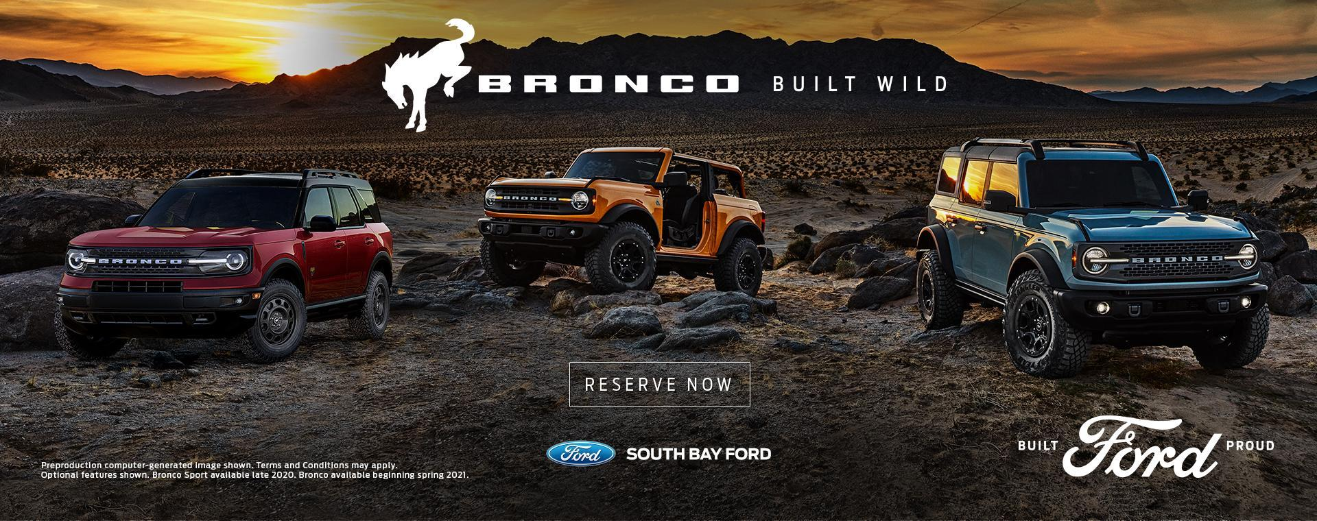 Bronco Reserve at South Bay Ford