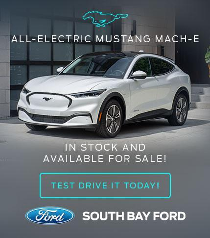 All-Electric Mustang Mach-E - In stock and available for sale! Test drive it today!