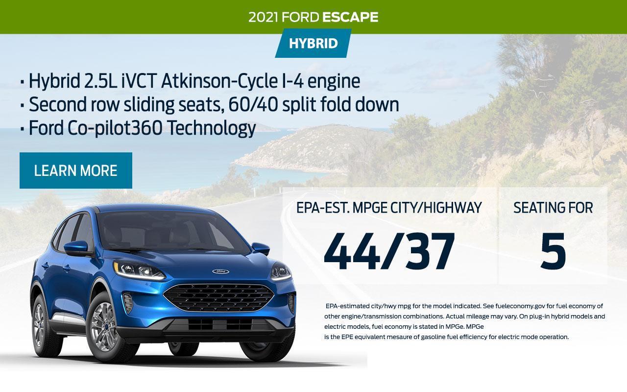 2021 Ford Escape Hybrid |  South Bay Ford