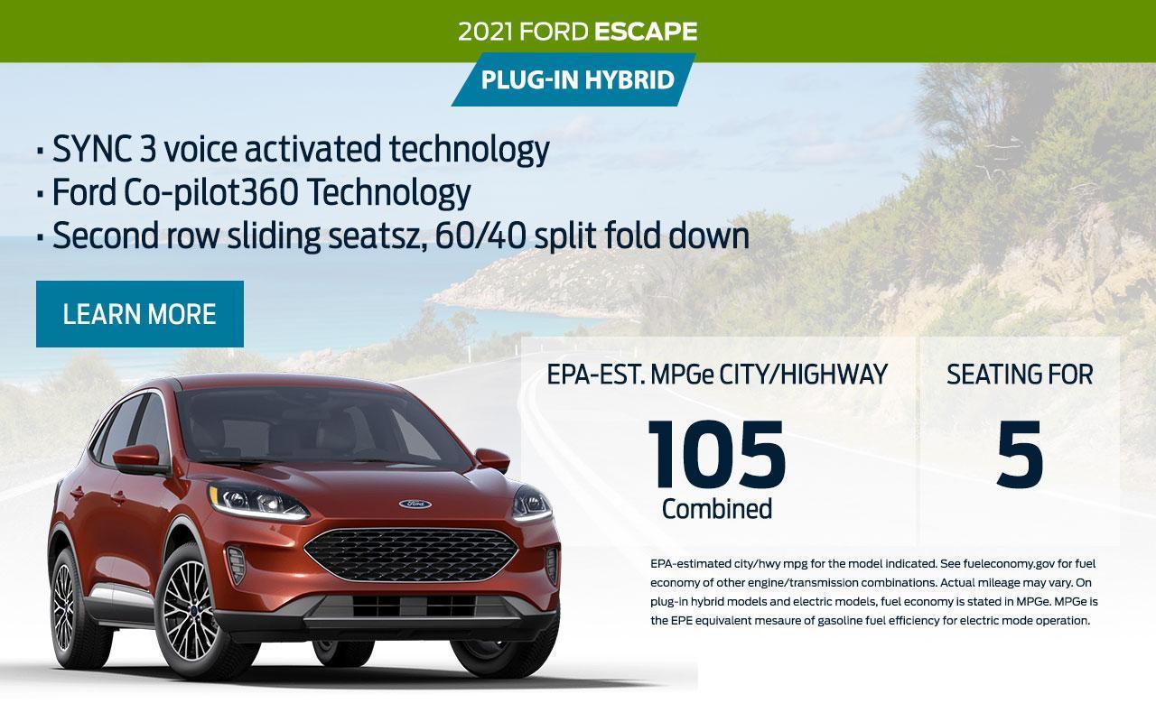 2021 Ford Escape Plug-In Hybrid | South Bay Ford