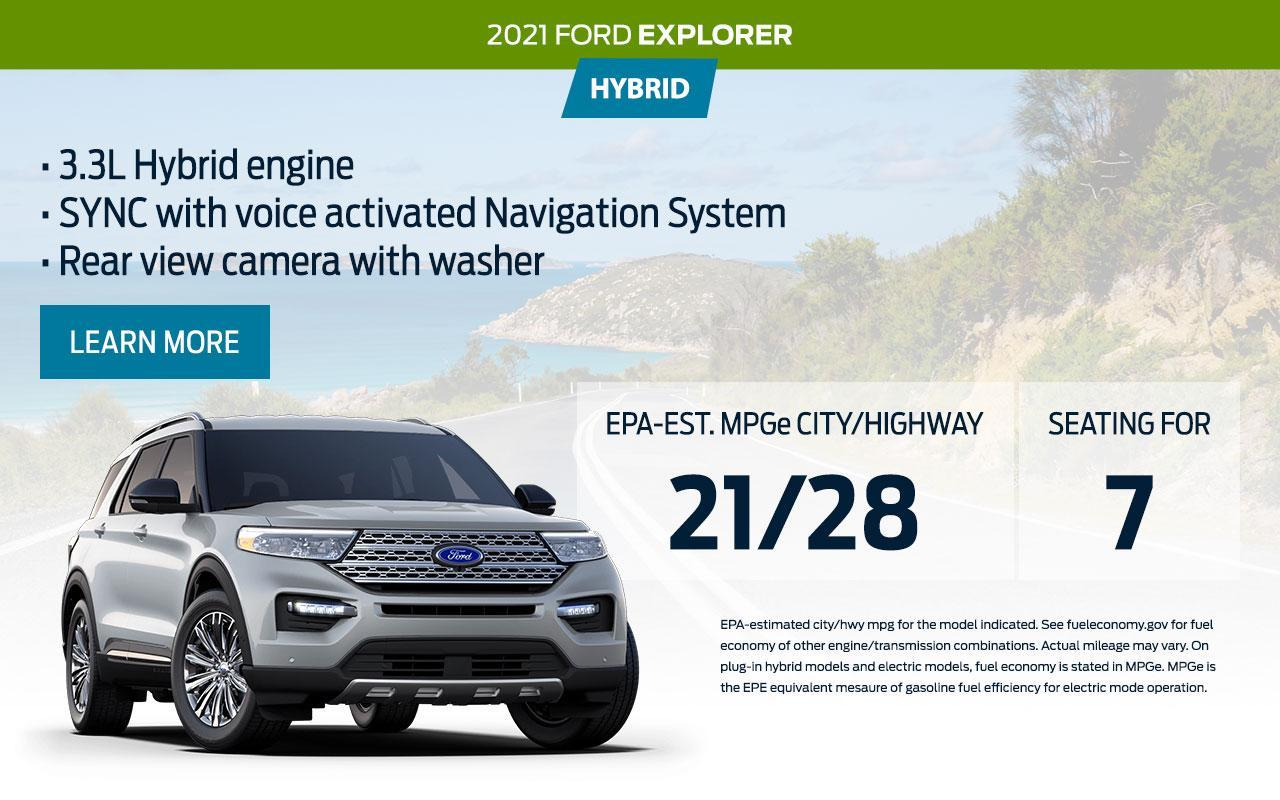 2021 Ford Explorer Hybrid | South Bay Ford