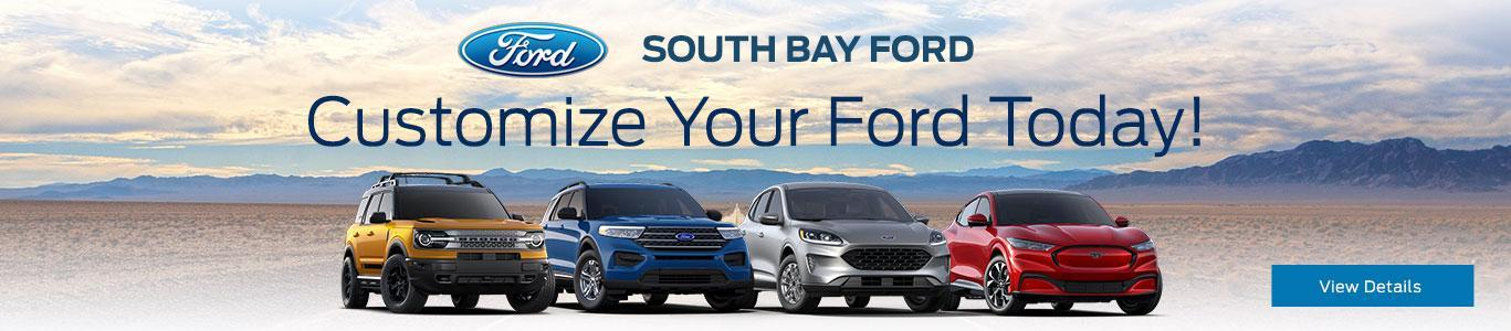 Customize Your Ford Today | South Bay Ford