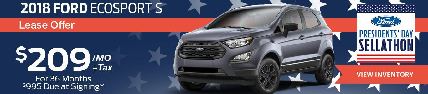 2018 Ford EcoSport Lease