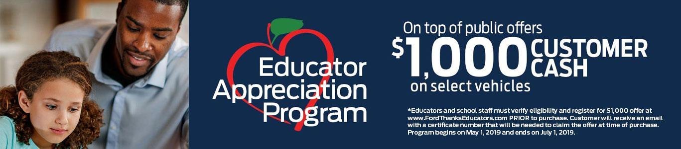 Educator Appreciation Program