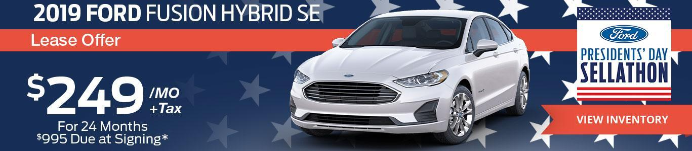 2019 Ford Fusion Hybrid Lease