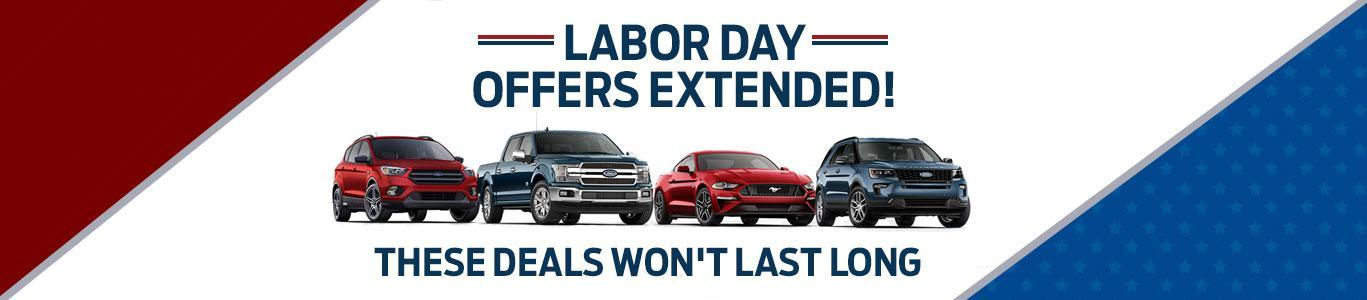 Labor day Offers extended