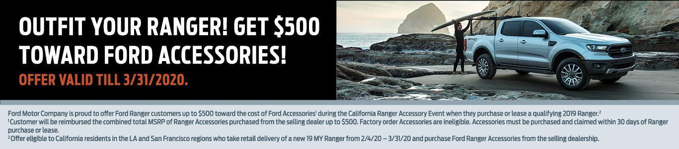 Ranger 19MY $500 Accessories