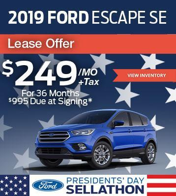 2019 Ford Escape Lease