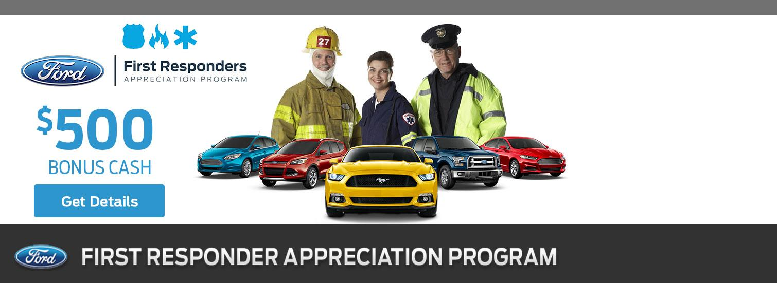 $500 First Responders Bonus Cash