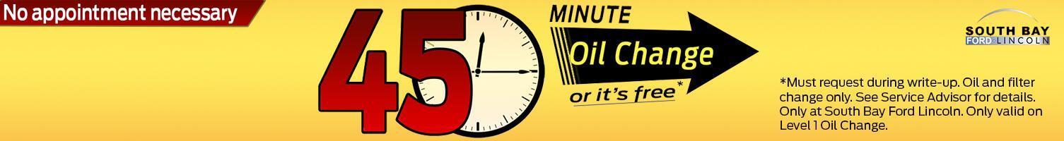 45 Minute Oil Change