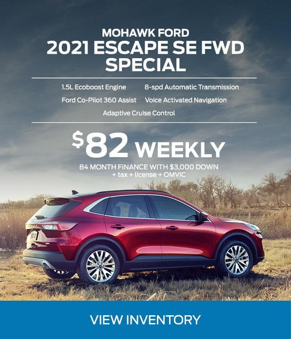 2021 escape finance and lease offer