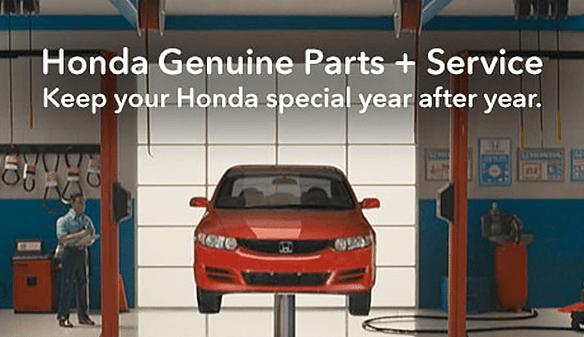 Honda parts and service