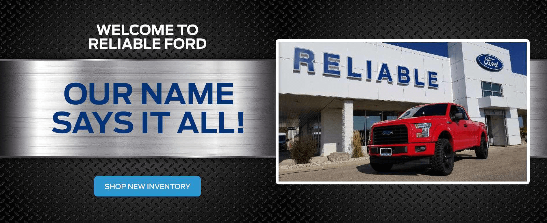 Welcome to Reliable Ford in Fergus