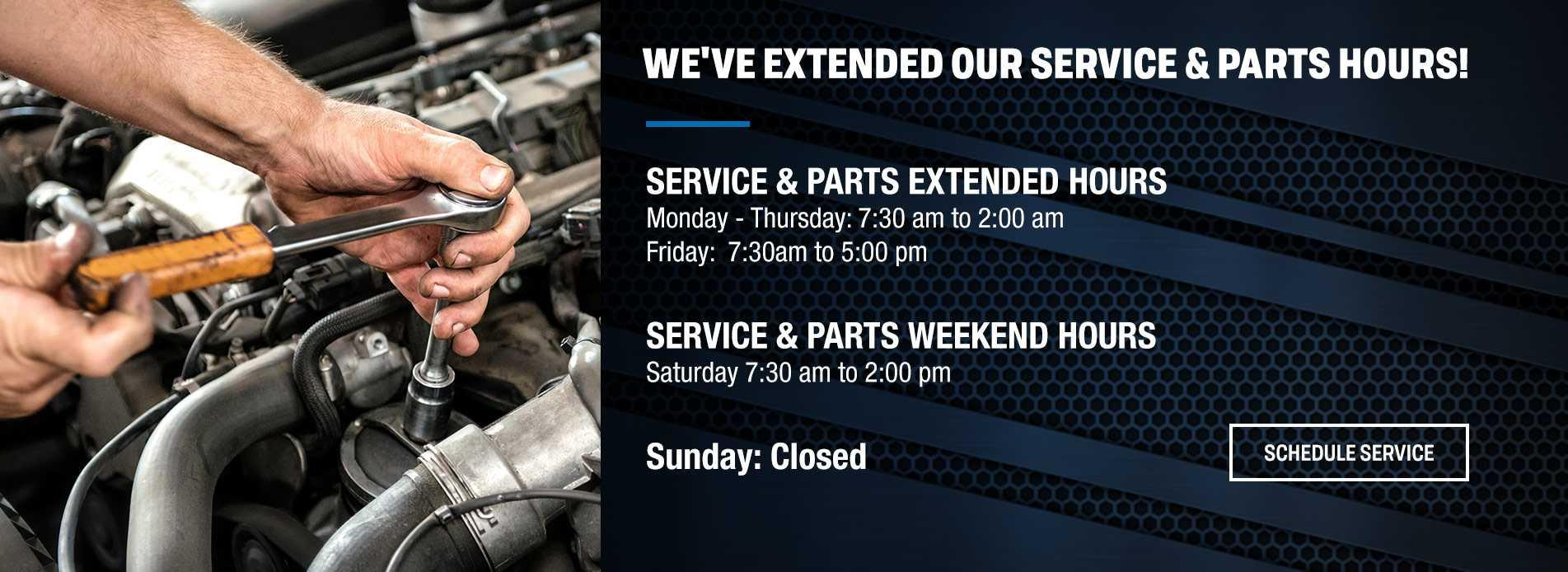 Service Hours Barrie Ford