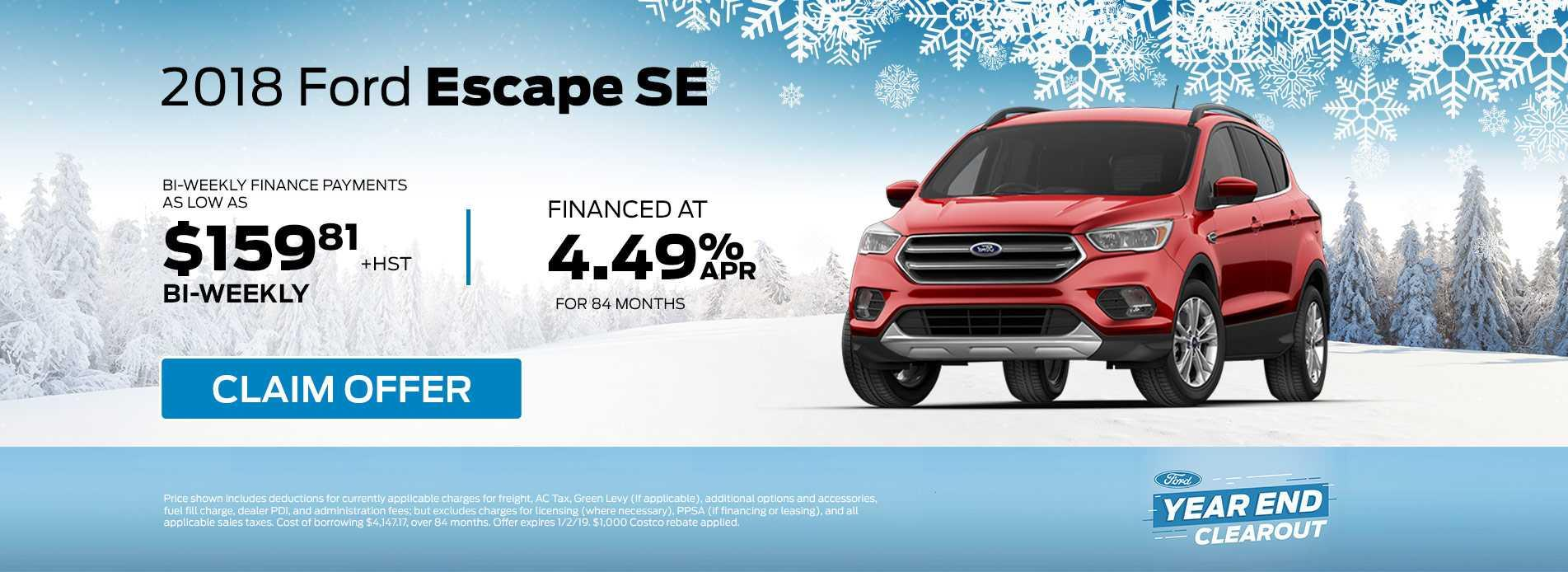 Escape December Offer