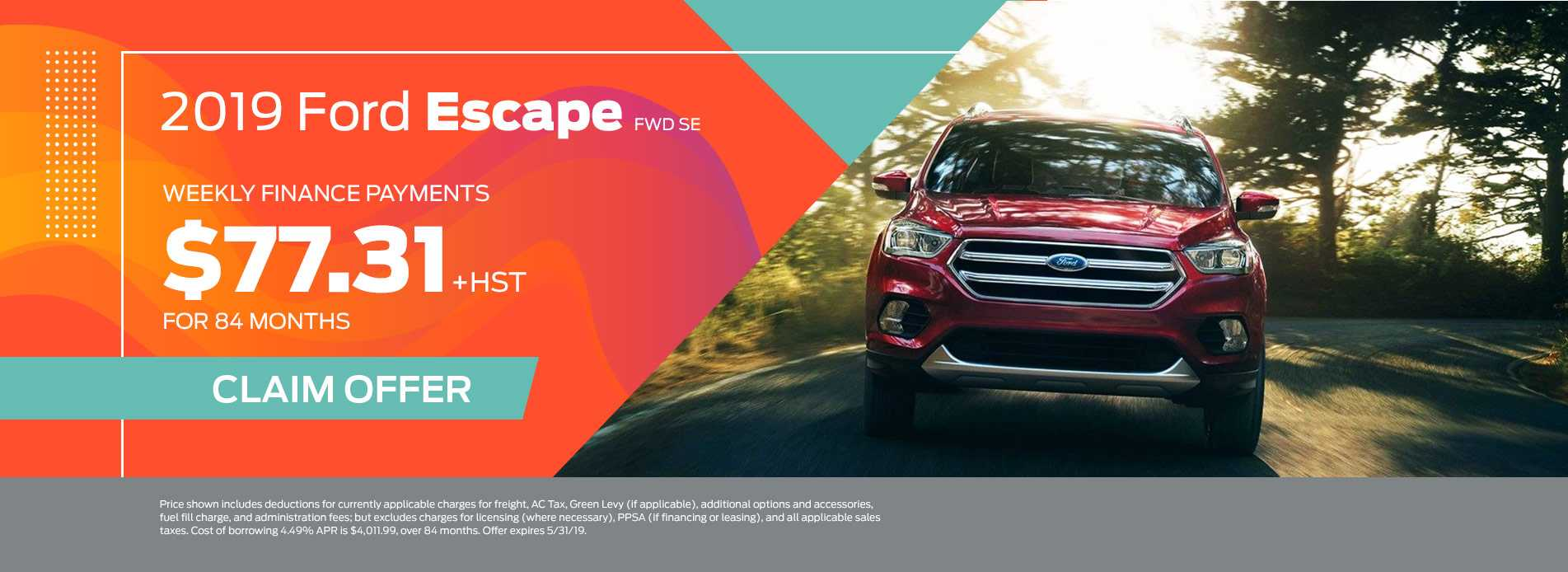 Ford Escape Barrie Ford May Finance