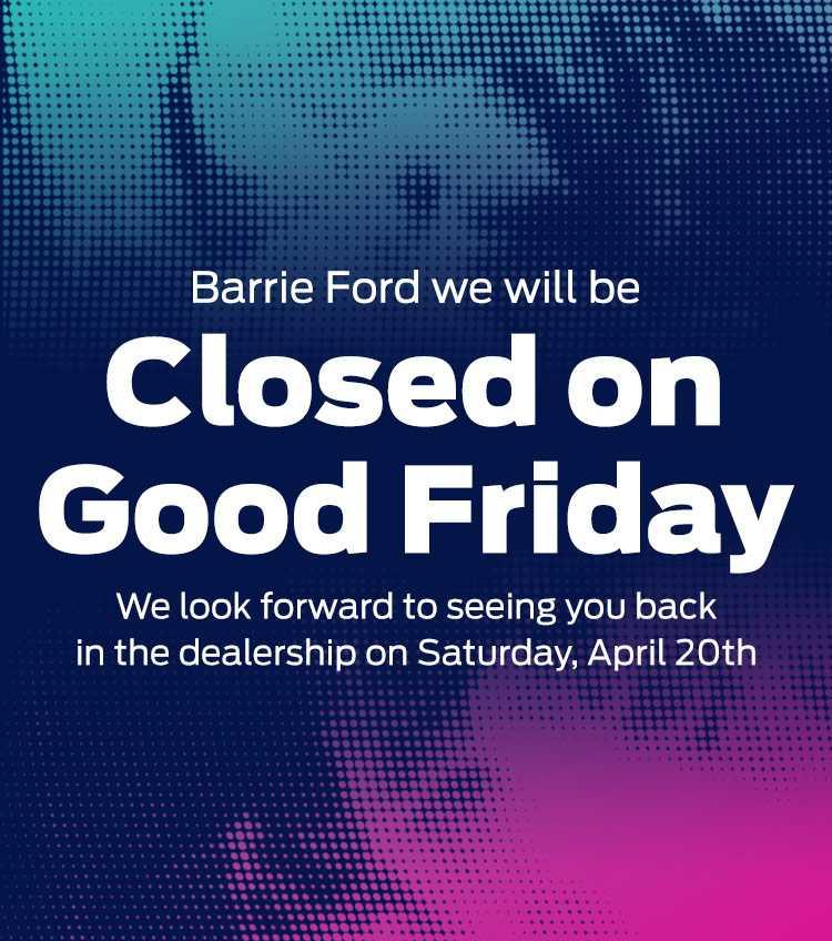 Good Friday Closed - Barrie Ford