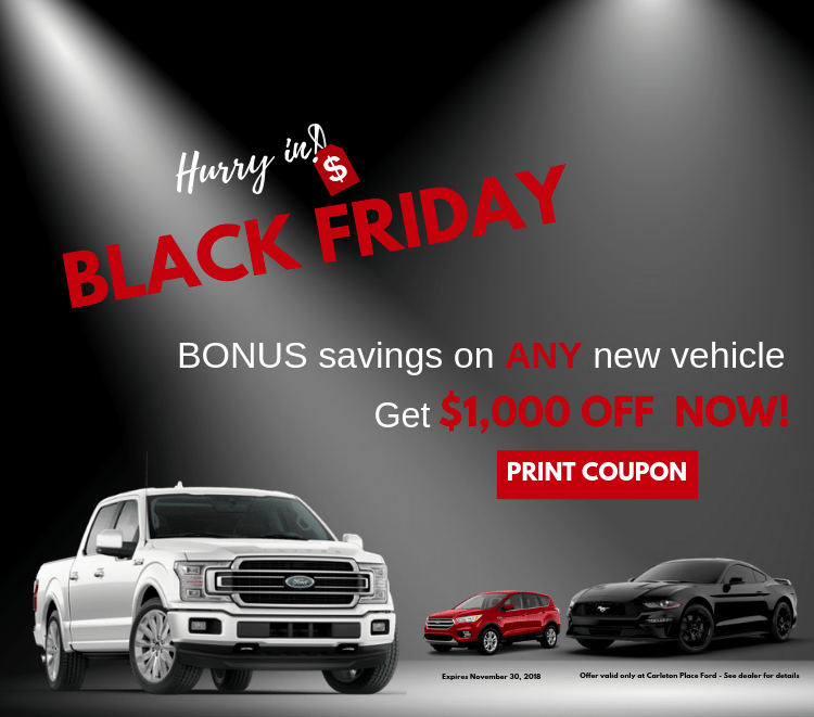 Black Friday Bonus $1000 Coupon towards the purchase of ANY new vehicle