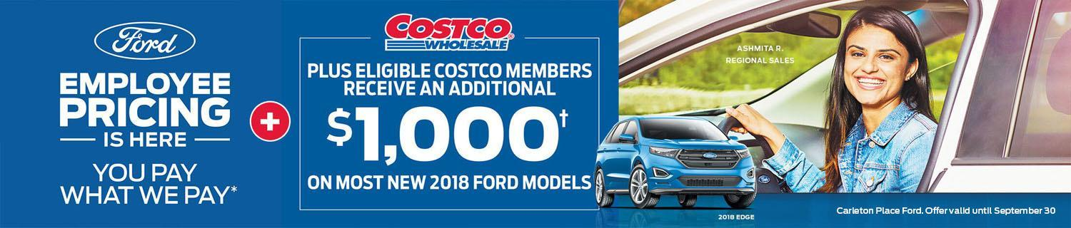 Ford Employee Pricing banner