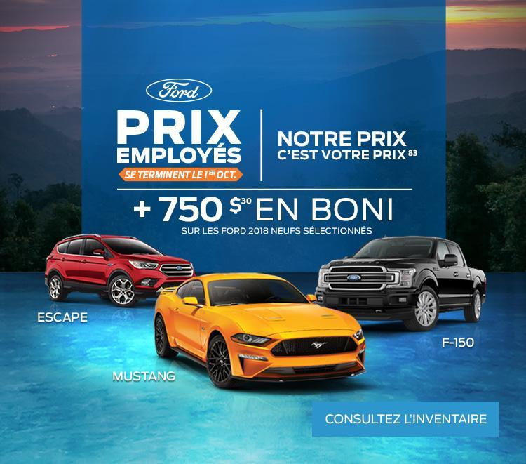 La Pérade Ford Prix Employés Septembre