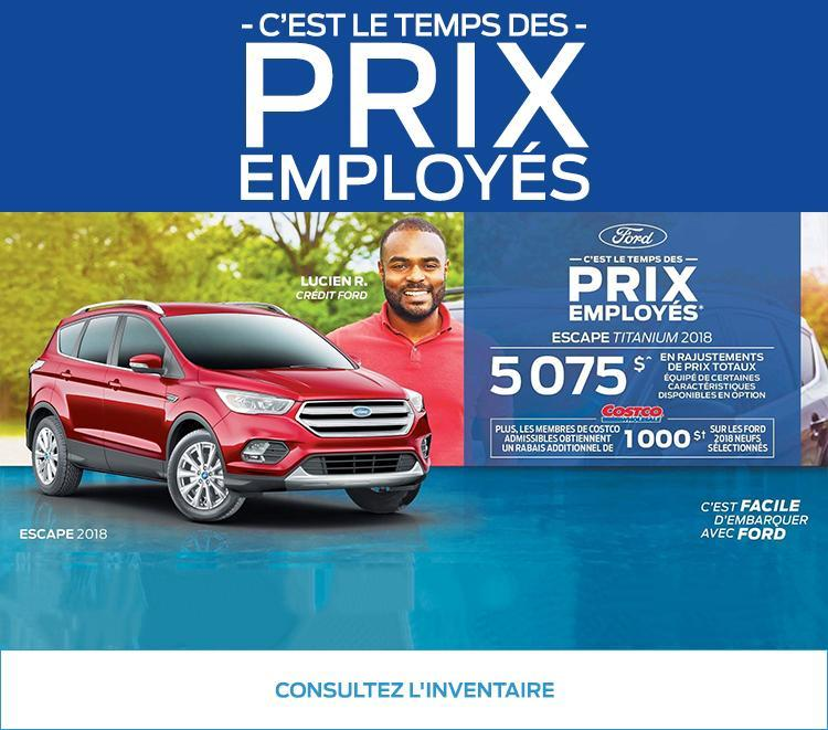 Prix Employés Ford La Pérade
