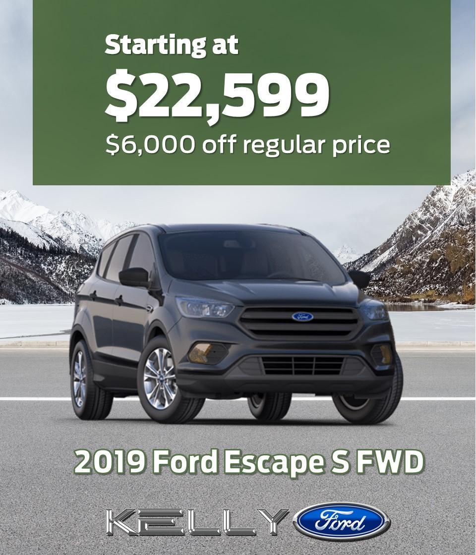 2019 Escape FWD S $6000 off