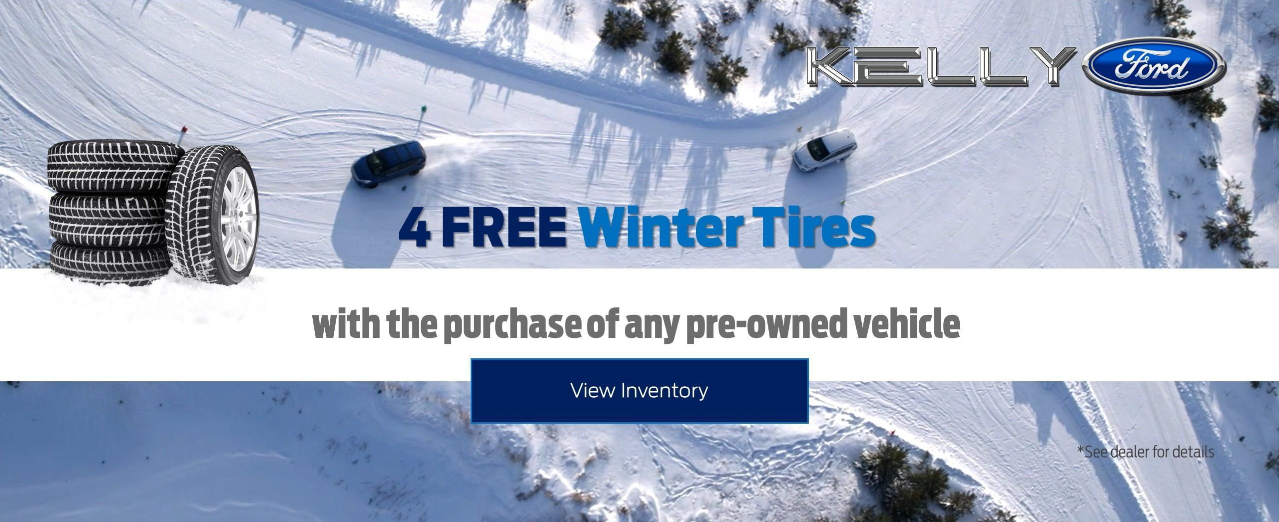 Free winter tires on purchase of pre-owned vehicle