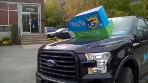 Nous sommes très heureux d'annoncer que durant la campagne « Luttons contre la faim » en octobre 2016, Ford Lincoln Gabriel a transporté :