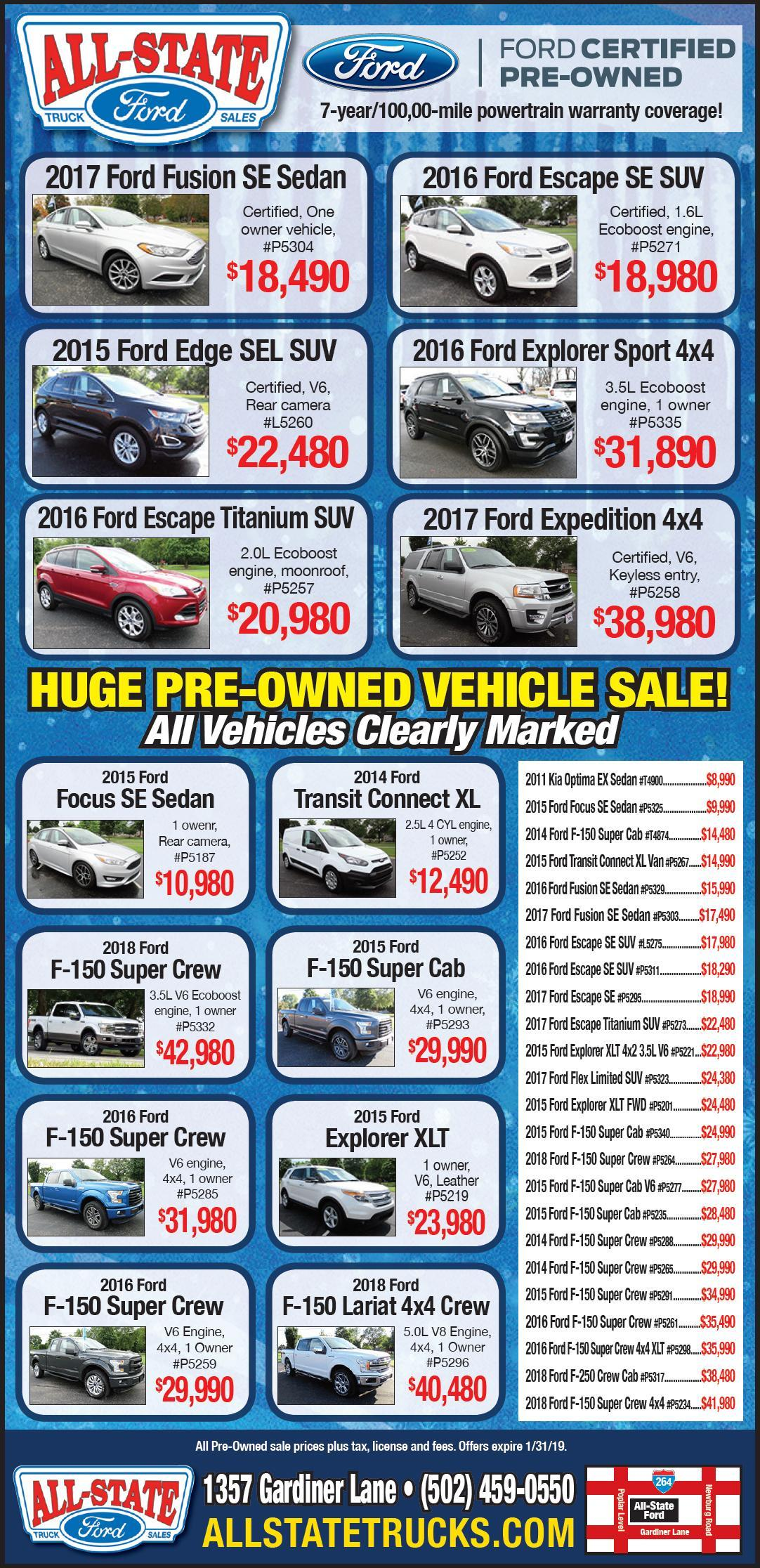 Preowned Vehicle Special